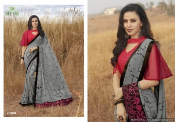 SANSKAR SUHANE PAL VOL-16 GEORGETTE DIGITAL PRINTED FANCY PARTY WEAR SAREE WHOLESALE PRICE(10)JPG