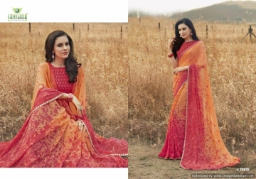 SANSKAR SUHANE PAL VOL-16 GEORGETTE DIGITAL PRINTED FANCY PARTY WEAR SAREE WHOLESALE PRICE(14)JPG