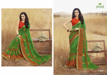 SANSKAR SUHANE PAL VOL-16 GEORGETTE DIGITAL PRINTED FANCY PARTY WEAR SAREE WHOLESALE PRICE(15)JPG