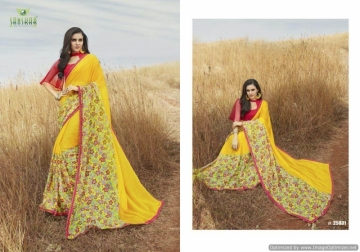 SANSKAR SUHANE PAL VOL-16 GEORGETTE DIGITAL PRINTED FANCY PARTY WEAR SAREE WHOLESALE PRICE(18)JPG