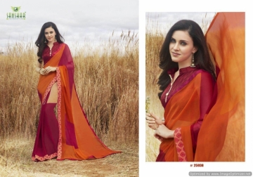 SANSKAR SUHANE PAL VOL-16 GEORGETTE DIGITAL PRINTED FANCY PARTY WEAR SAREE WHOLESALE PRICE(20)JPG