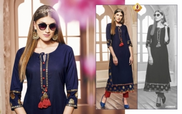 SHRUTI FEMINAA RAYON SILK PRINTED KURTIS WHOLESALE PRICE (4) JPG