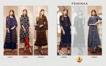 SHRUTI FEMINAA RAYON SILK PRINTED KURTIS   WHOLESALE PRICE (7) JPG