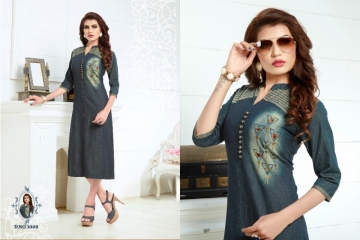 SLC BLUE BERRY VOL 3 DENIM KURTIS WHOLESALE PRICE (1) JPG