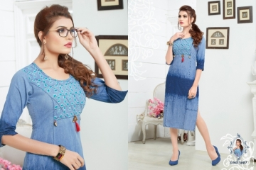 SLC BLUE BERRY VOL 3 DENIM KURTIS WHOLESALE PRICE (2) JPG