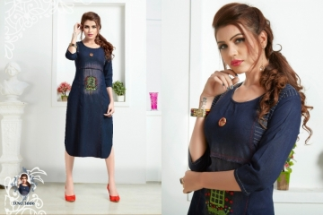 SLC BLUE BERRY VOL 3 DENIM KURTIS WHOLESALE PRICE (4) JPG