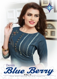 SLC BLUE BERRY VOL 3 DENIM KURTIS WHOLESALE PRICE (8) JPG