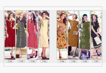 TITLI AESTHETIC DESIGNER WITH WORK AND PRINTED FAUX GEORGETTE KURTIS WHOLESALE PRICE (11) JPG