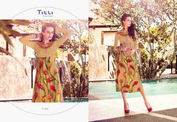 TITLI AESTHETIC DESIGNER WITH WORK AND PRINTED FAUX GEORGETTE KURTIS WHOLESALE PRICE (7) JPG