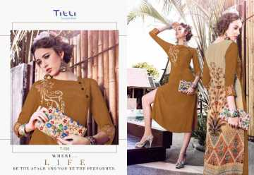 TITLI AESTHETIC DESIGNER WITH WORK AND PRINTED FAUX GEORGETTE KURTIS WHOLESALE PRICE (8) JPG
