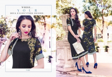 TITLI AESTHETIC DESIGNER WITH WORK AND PRINTED FAUX GEORGETTE KURTIS WHOLESALE PRICE (10) JPG