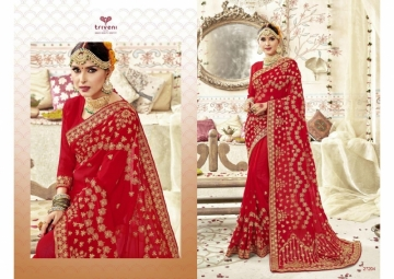 Triveni Abhinandan Saree Wholesale Supplier 27204
