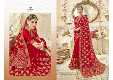 Triveni Abhinandan Saree Wholesale Supplier 27208