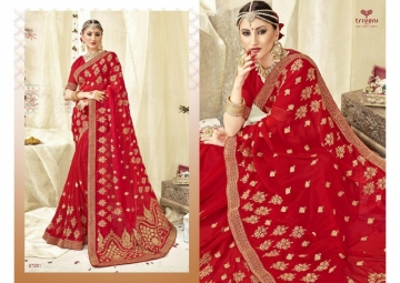 Triveni Abhinandan Saree Wholesale Supplier 27201