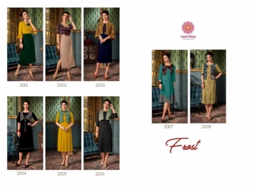 VASTRIKAA FROST RAYON FANCY WEAR JACKETS AND KURTIS WHOLESALE PRICE(3)JPG
