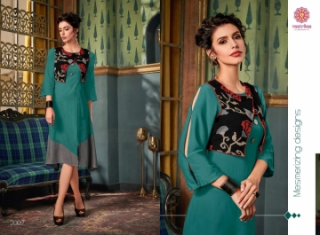 VASTRIKAA FROST RAYON FANCY WEAR JACKETS AND KURTIS WHOLESALE PRICE(4)JPG