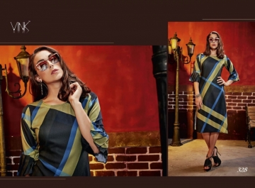 VINK CHECKMATE RAYON PRINTED PARTY WEAR  KURTIS WHOLESALE PRICE(3)JPG