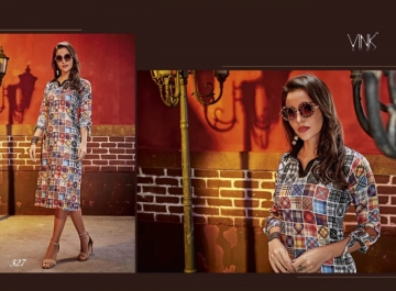 VINK CHECKMATE RAYON PRINTED PARTY WEAR  KURTIS WHOLESALE PRICE(4)JPG