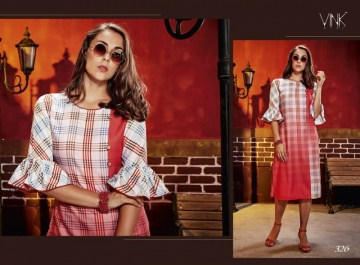 VINK CHECKMATE RAYON PRINTED PARTY WEAR  KURTIS WHOLESALE PRICE(5)JPG