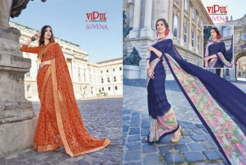 VIPUL FASHION SUVENA TRENDY GEORGETTE PARTY WEAR SAREES WHOLESALE SUPPLIER PRICE(13)JPG