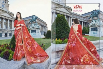 VIPUL FASHION SUVENA TRENDY GEORGETTE PARTY WEAR SAREES WHOLESALE SUPPLIER PRICE(15)JPG