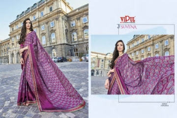VIPUL FASHION SUVENA TRENDY GEORGETTE PARTY WEAR SAREES WHOLESALE SUPPLIER PRICE(17)JPG