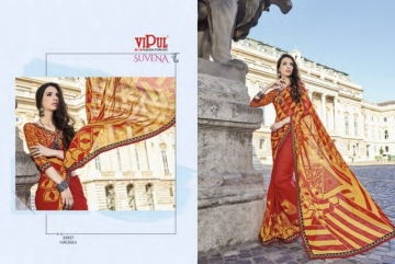 VIPUL FASHION SUVENA TRENDY GEORGETTE PARTY WEAR SAREES WHOLESALE SUPPLIER PRICE(21)JPG