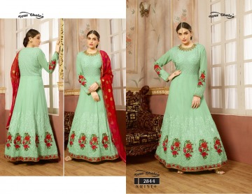 YOUR CHOICE ARISE + GEORGETTE PARTY WEAR GOWN WHOLESALE PRICE (1) JPG