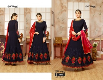 YOUR CHOICE ARISE + GEORGETTE PARTY WEAR GOWN WHOLESALE PRICE (3) JPG