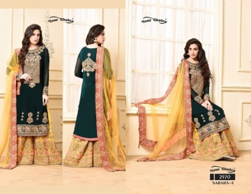 YOUR CHOICE SARARA VOL 4 PARTY WEAR EMBROIDED SUITS WHOLESALE SUPPLIER SURAT (4) JPG
