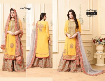 YOUR CHOICE SARARA VOL 4 PARTY WEAR EMBROIDED SUITS WHOLESALE SUPPLIER SURAT (2) JPG