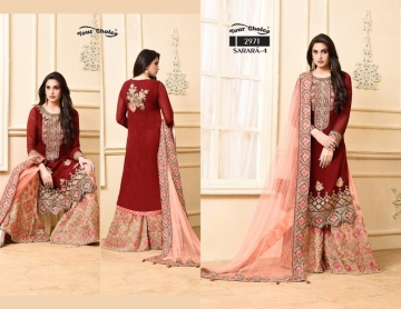 YOUR CHOICE SARARA VOL 4 PARTY WEAR EMBROIDED SUITS WHOLESALE SUPPLIER SURAT (3) JPG