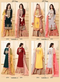 YOUR CHOICE SARARA VOL 4 PARTY WEAR EMBROIDED SUITS WHOLESALE SUPPLIER SURAT (6) JPG