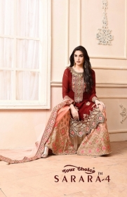 YOUR CHOICE SARARA VOL 4 PARTY WEAR EMBROIDED SUITS WHOLESALE SUPPLIER SURAT (7) JPG