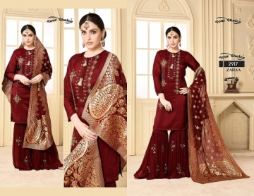 YOUR CHOICE ZARA GEORGETTE PARTY WEAR SUITS WHOLESALE PRICE (3) JPG