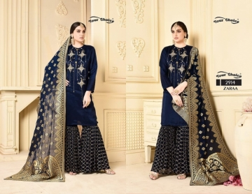 YOUR CHOICE ZARA GEORGETTE PARTY WEAR SUITS WHOLESALE PRICE (2) JPG