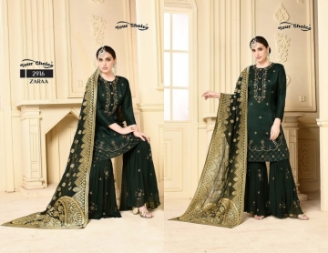 YOUR CHOICE ZARA GEORGETTE PARTY WEAR SUITS WHOLESALE PRICE (4) JPG