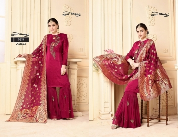 YOUR CHOICE ZARA GEORGETTE PARTY WEAR SUITS WHOLESALE PRICE (5) JPG