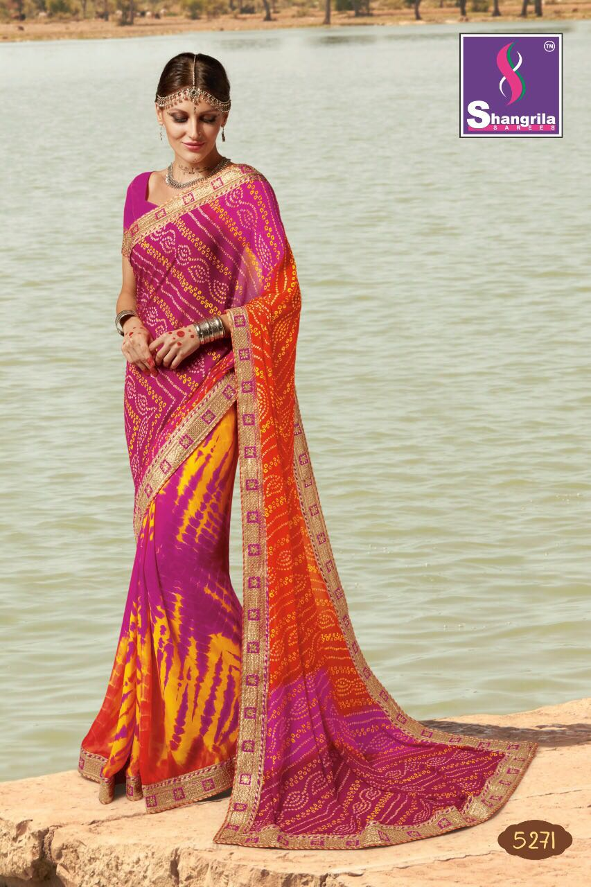 Tirupati Wholesale ROYAL BHANDEJ BY SHANGRILA SAREES 5271 TO 5282 ...